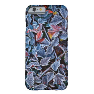 Coque iPhone 6 Barely There Frost sur le feuille d'automne, Orégon