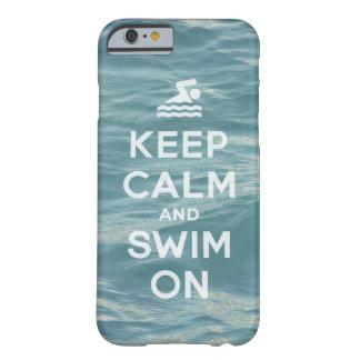 Coque iPhone 6 Barely There Gardez le calme et nagez sur drôle