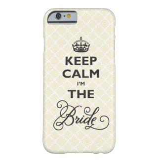 Coque iPhone 6 Barely There Gardez le calme que je suis la jeune mariée