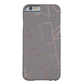 Coque iPhone 6 Barely There Géométrique minimaliste moderne élégant d'or rose