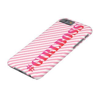 Coque iPhone 6 Barely There #GirlBoss - cas de téléphone de citation