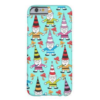 Coque iPhone 6 Barely There Gnomes géniaux colorés avec des champignons