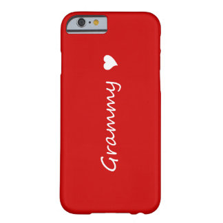 Coque iPhone 6 Barely There Grammy rouge avec le coeur