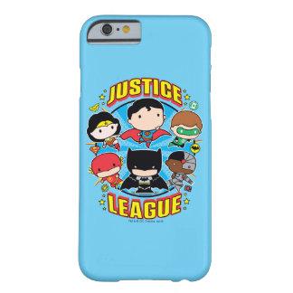 Coque iPhone 6 Barely There Groupe de ligue de justice de Chibi