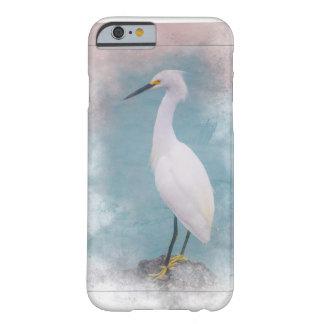 Coque iPhone 6 Barely There Héron snowny aux pieds jaune - pêche en Floride !