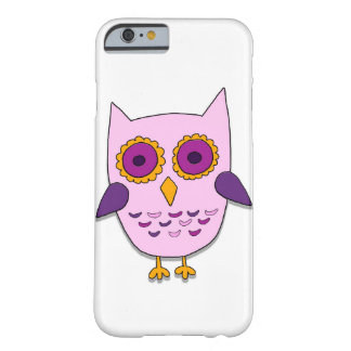 Coque iPhone 6 Barely There Hibou rose