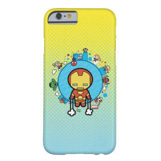 Coque iPhone 6 Barely There Homme de fer de Kawaii avec des héros de merveille