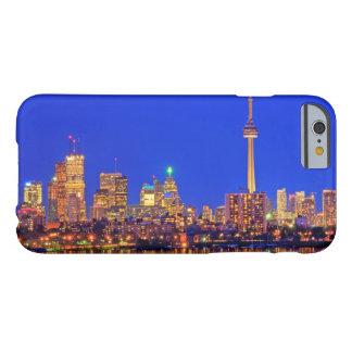 Coque iPhone 6 Barely There Horizon du centre de Toronto la nuit