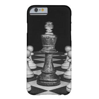 Coque iPhone 6 Barely There iPhone 6/6s, noir de cas d'échecs et blanc