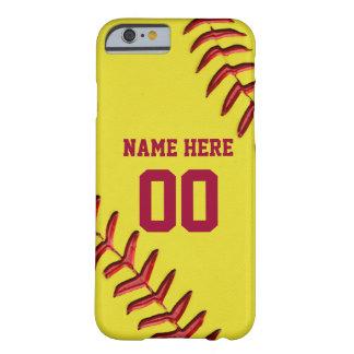 Coque iPhone 6 Barely There iPhone du base-ball 6 cas avec votre NOM et NOMBRE
