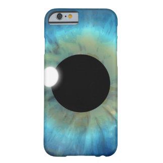 Coque iPhone 6 Barely There iPhone mince de globe oculaire d'oeil bleu