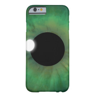 Coque iPhone 6 Barely There iPhone mince de globe oculaire d'oeil vert