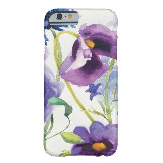 Coque iPhone 6 Barely There Jardin mélangé bleu et pourpre