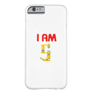 Coque iPhone 6 Barely There Je suis anniversaire 2012 d'évolution de 5 robots