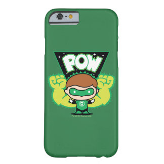 Coque iPhone 6 Barely There Lanterne verte de Chibi formant les poings géants