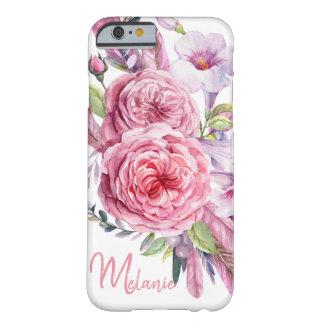 Coque iPhone 6 Barely There Le bouquet de l'aquarelle fleurit la caisse de