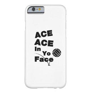 Coque iPhone 6 Barely There Le CÆ drôle du CÆ de volleyball dans Yo font face