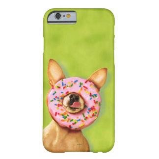 Coque iPhone 6 Barely There Le chien drôle de chiwawa avec arrosent le beignet