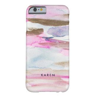 Coque iPhone 6 Barely There Le fluide coloré moderne colore le monogramme D2