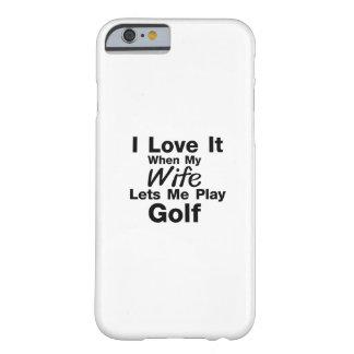 Coque iPhone 6 Barely There Le golf est pour moi cool jouant au golf de