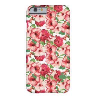 Coque iPhone 6 Barely There Le motif floral moderne des fleurs et s'est levé