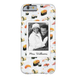 Coque iPhone 6 Barely There Le motif japonais   de sushi de la nourriture  