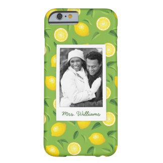Coque iPhone 6 Barely There Le motif jaune lumineux | de citron ajoutent votre
