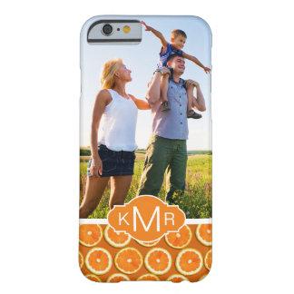 Coque iPhone 6 Barely There Le motif orange | de tranche ajoutent votre photo