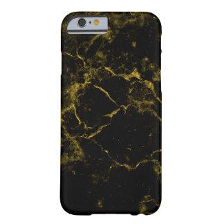 Coque iPhone 6 Barely There le noir chic moderne élégant élégant et l'or