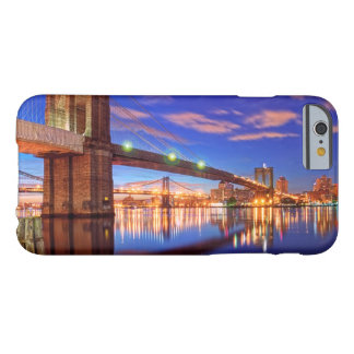 Coque iPhone 6 Barely There L'East River, pont de Brooklyn, Manhattan