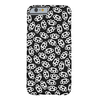 Coque iPhone 6 Barely There Les articulations en laiton noires et blanches ont