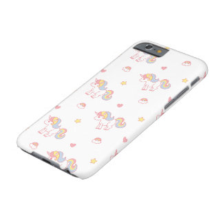 Coque iPhone 6 Barely There Licorne d'arc-en-ciel par Yokute