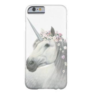 Coque iPhone 6 Barely There Licorne d'esprit avec des fleurs dans la crinière