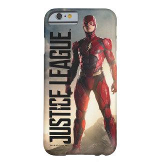 Coque iPhone 6 Barely There Ligue de justice | l'éclair sur le champ de
