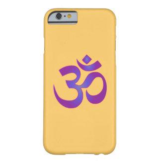 Coque iPhone 6 Barely There L'OM symbole rose et pourpre d'Aum de zen de yoga