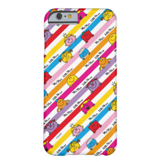 Coque iPhone 6 Barely There M. Men et petit motif de rayures d'arc-en-ciel de