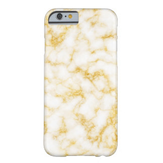 Coque iPhone 6 Barely There Marbre élégant - blanc d'or