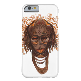 Coque iPhone 6 Barely There Masque africain