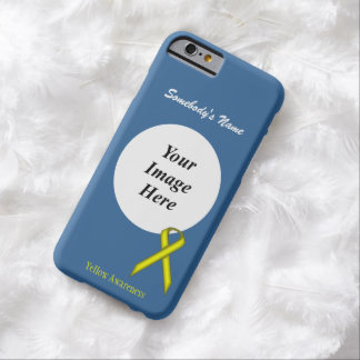 Coque iPhone 6 Barely There Modèle standard jaune de ruban par Kenneth Yoncich