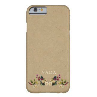 Coque iPhone 6 Barely There Monogramme floral de pays