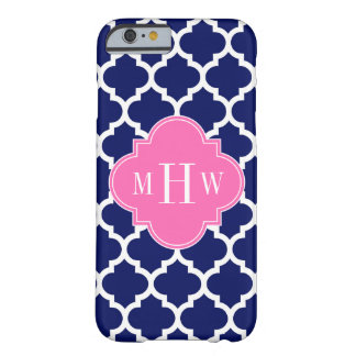 Coque iPhone 6 Barely There Monogramme Pink2 3 initial du Marocain #5 de