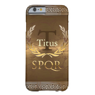 Coque iPhone 6 Barely There Monogramme romain