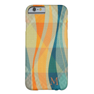 Coque iPhone 6 Barely There Motif abstrait coloré de rayures