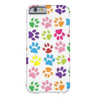 Coque iPhone 6 Barely There Motif coloré mignon d'impression de pattes