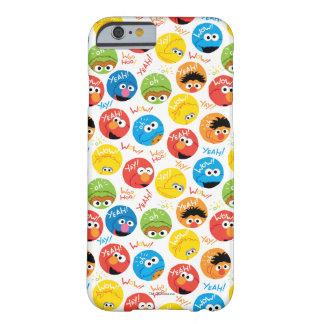 Coque iPhone 6 Barely There Motif de caractère de cercle de Sesame Street