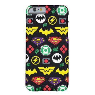 Coque iPhone 6 Barely There Motif de logo de ligue de justice de Chibi
