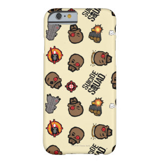 Coque iPhone 6 Barely There Motif du peloton | Deadshot Emoji de suicide
