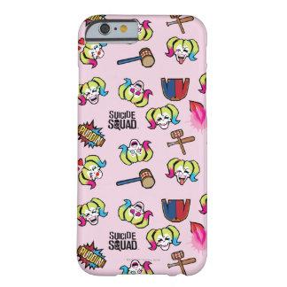 Coque iPhone 6 Barely There Motif du peloton   Harley Quinn Emoji de suicide