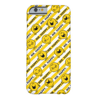 Coque iPhone 6 Barely There Motif jaune de rayures de M. Happy |