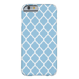 Coque iPhone 6 Barely There Motif marocain chic de trellis de bleu de ciel